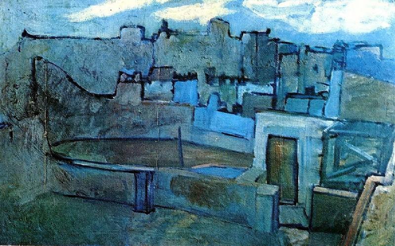 1903 Les toits de Barcelone. Pablo Picasso (1881-1973) Period of creation: 1889-1907