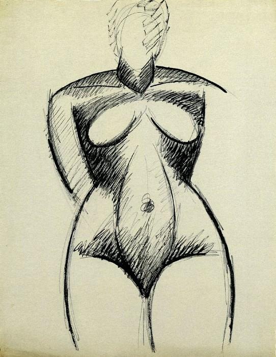 1907 Femme nue de face. Pablo Picasso (1881-1973) Period of creation: 1889-1907
