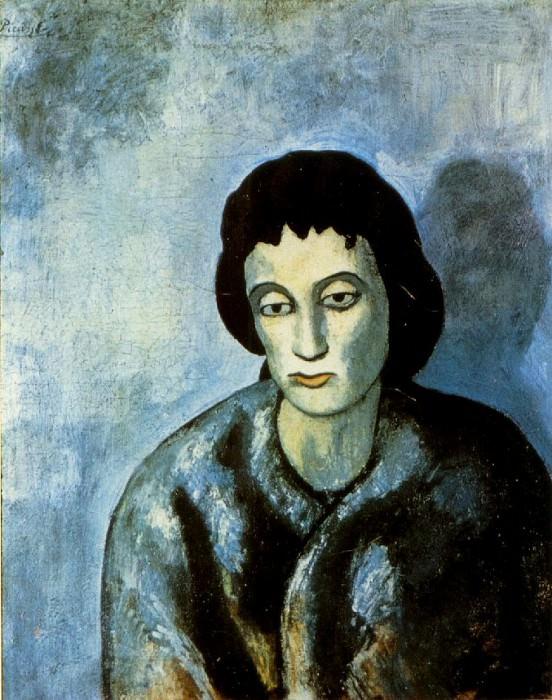 1902 La femme avec la bordure. Пабло Пикассо (1881-1973) Период: 1889-1907
