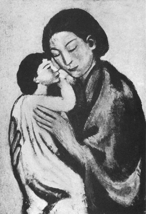 1901 Femme accroupie et enfant. Pablo Picasso (1881-1973) Period of creation: 1889-1907