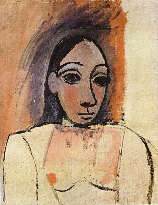 1907 Buste de femme1. Pablo Picasso (1881-1973) Period of creation: 1889-1907