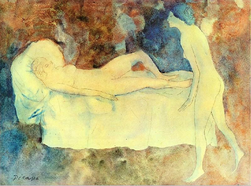 1904 Les deux amies2. Pablo Picasso (1881-1973) Period of creation: 1889-1907