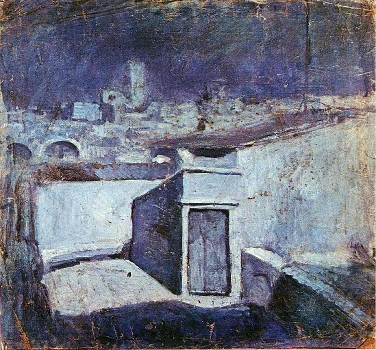 1903 Les toits de Barcelone au clair de lune. Pablo Picasso (1881-1973) Period of creation: 1889-1907