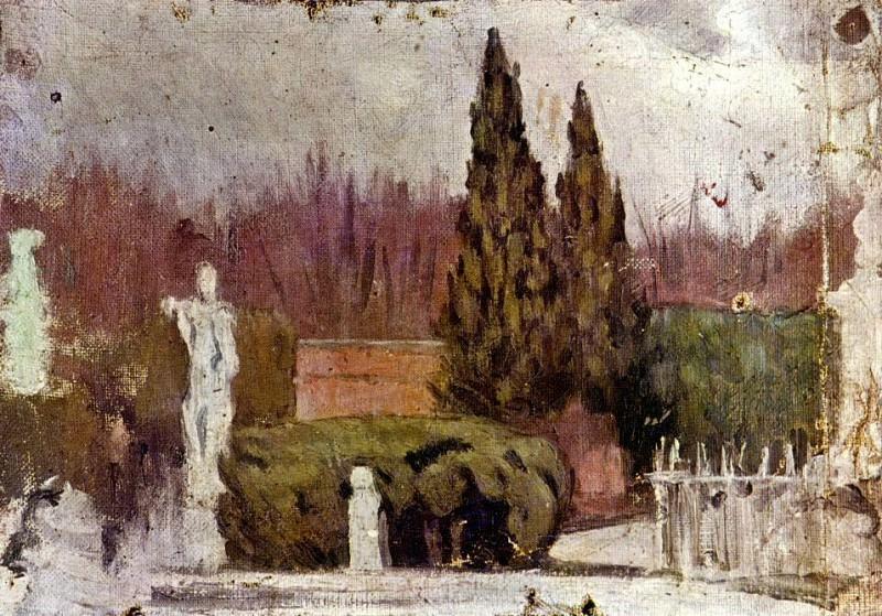 1897 Le Parc del Retiro. Пабло Пикассо (1881-1973) Период: 1889-1907