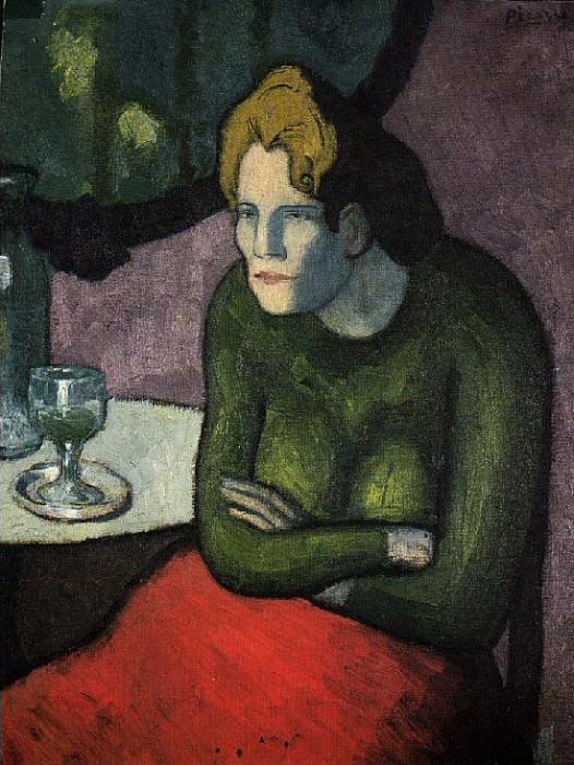1901 Femme aux bras croisВs. Pablo Picasso (1881-1973) Period of creation: 1889-1907