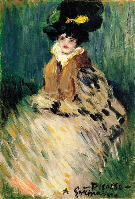 1900 Germaine. Пабло Пикассо (1881-1973) Период: 1889-1907
