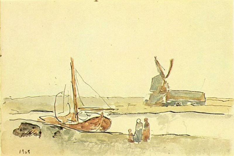 1905 Un bateau sur le canal. Pablo Picasso (1881-1973) Period of creation: 1889-1907