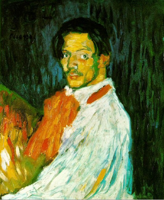 1901 Autoportrait Yo, Picasso. Пабло Пикассо (1881-1973) Период: 1889-1907