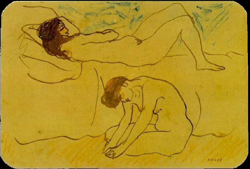 1902 Deux femmes nues. Пабло Пикассо (1881-1973) Период: 1889-1907