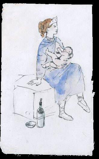 1905 Artiste de cirque et enfant. Пабло Пикассо (1881-1973) Период: 1889-1907