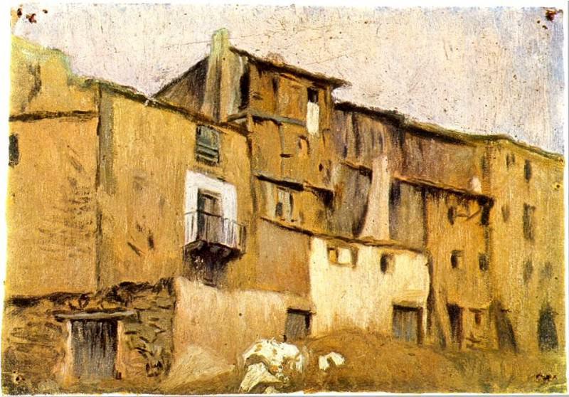 1898 Maisons de Horta dEbre. Pablo Picasso (1881-1973) Period of creation: 1889-1907