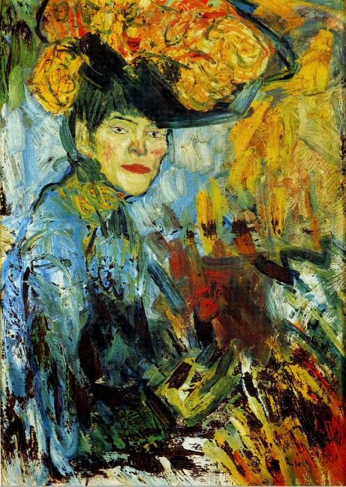 1901 Femme dans le thВГtre. Пабло Пикассо (1881-1973) Период: 1889-1907