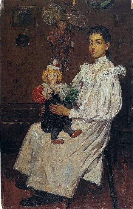 1896 Lenfant et sa poupщe (la sЬur de lartiste). Пабло Пикассо (1881-1973) Период: 1889-1907