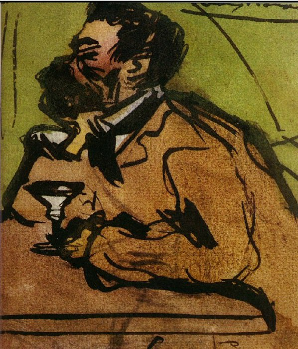 1899 Caricature (Portrait de Josep Rocarol). Pablo Picasso (1881-1973) Period of creation: 1889-1907