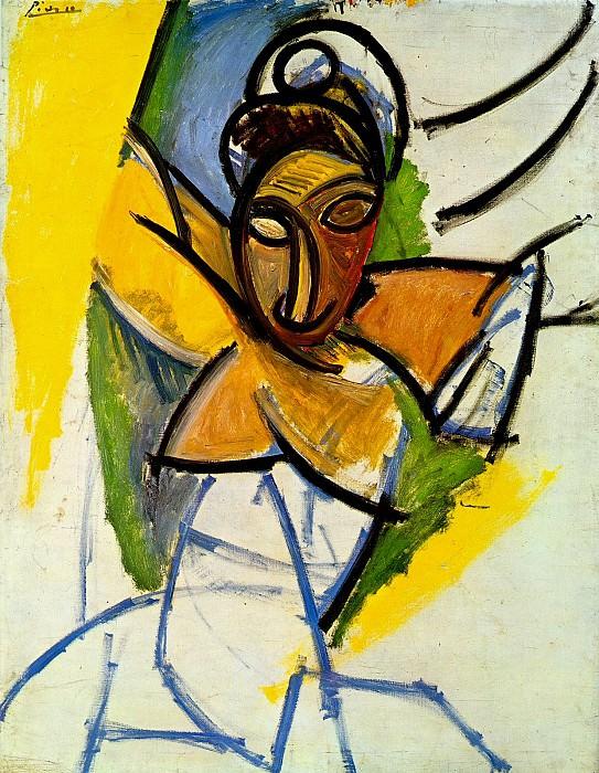 1907 Demoiselle dAvinyв. Pablo Picasso (1881-1973) Period of creation: 1889-1907