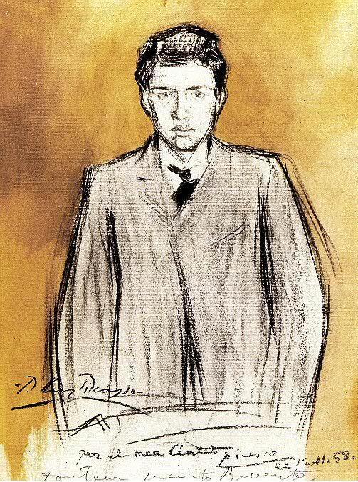 1899 Portrait de Jacint Reventos. Pablo Picasso (1881-1973) Period of creation: 1889-1907