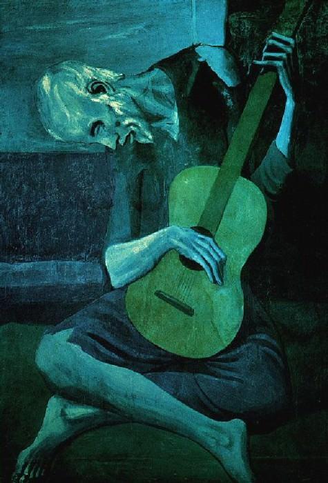 1903 Le Vieux guitariste aveugle. Pablo Picasso (1881-1973) Period of creation: 1889-1907