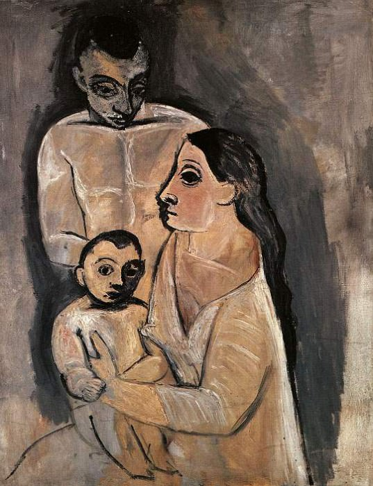 1906 Homme, femme, et enfant. JPG. Pablo Picasso (1881-1973) Period of creation: 1889-1907