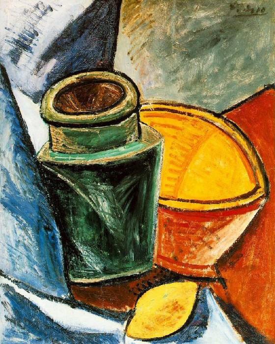 1907 Cruche, bol et citron. Pablo Picasso (1881-1973) Period of creation: 1889-1907