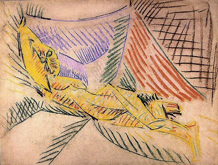 1907 Nu couchВ. Pablo Picasso (1881-1973) Period of creation: 1889-1907