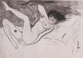 1901 nu couchВ. Pablo Picasso (1881-1973) Period of creation: 1889-1907