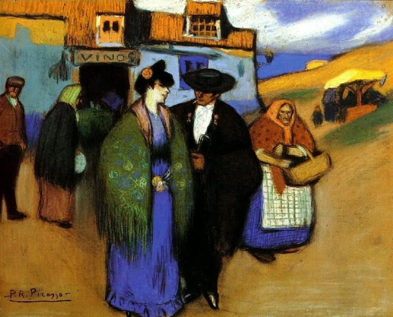 1900 Couple espagnol devant une auberge. Pablo Picasso (1881-1973) Period of creation: 1889-1907