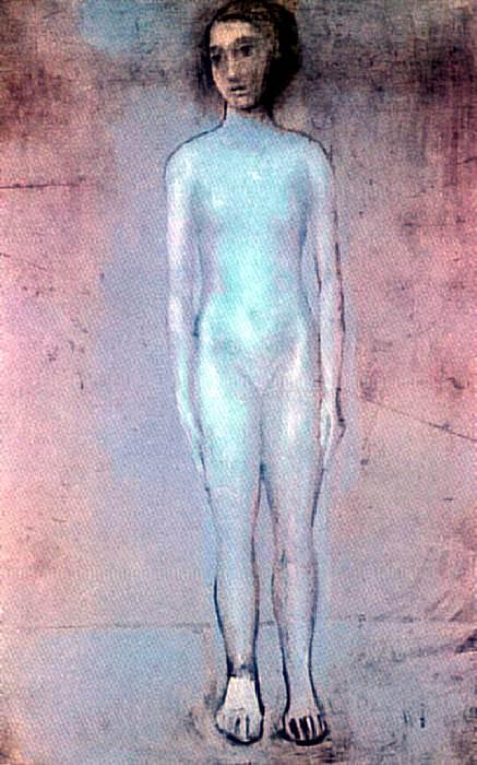 1903 Petite fille debout. Пабло Пикассо (1881-1973) Период: 1889-1907