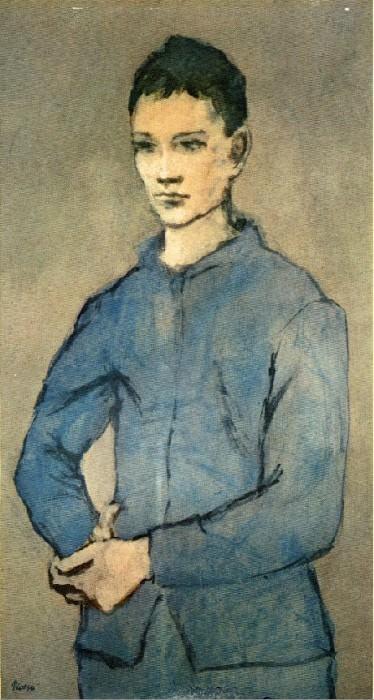 1905 GarЗon bleu. Пабло Пикассо (1881-1973) Период: 1889-1907