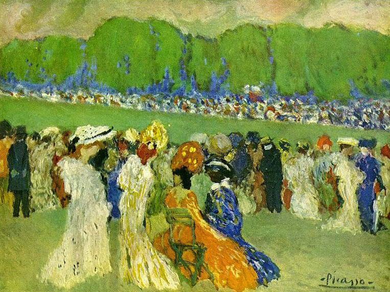 1901 Longchamp. Pablo Picasso (1881-1973) Period of creation: 1889-1907