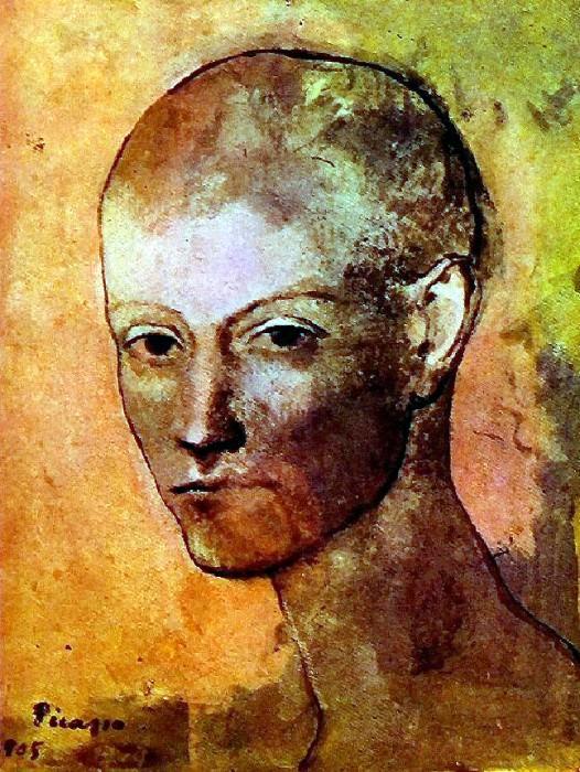 1906 TИte de jeune homme. Pablo Picasso (1881-1973) Period of creation: 1889-1907