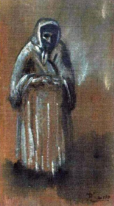 1903 La vieille. Pablo Picasso (1881-1973) Period of creation: 1889-1907