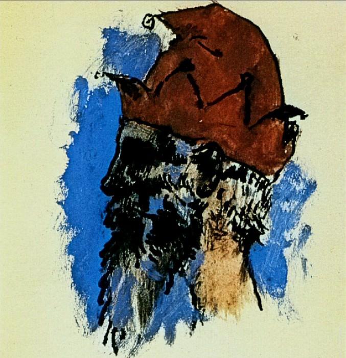 1905 TИte de bouffon. Пабло Пикассо (1881-1973) Период: 1889-1907
