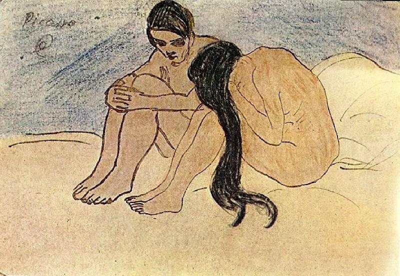 1902 Homme et femme. Пабло Пикассо (1881-1973) Период: 1889-1907