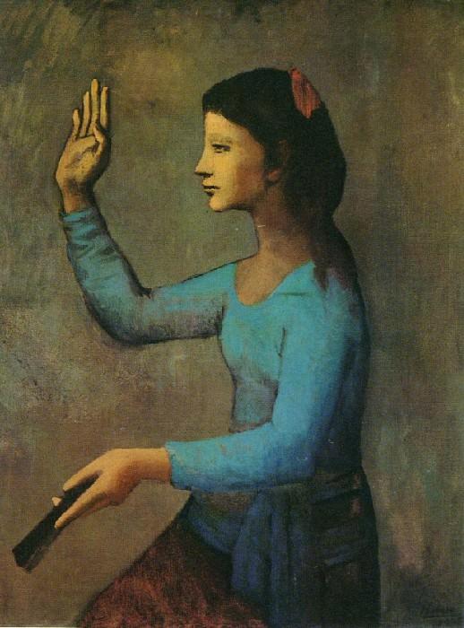 1905 Femme Е lВventail. Пабло Пикассо (1881-1973) Период: 1889-1907
