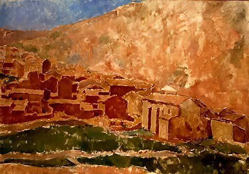 1906 Paysage de Gвsol. Pablo Picasso (1881-1973) Period of creation: 1889-1907