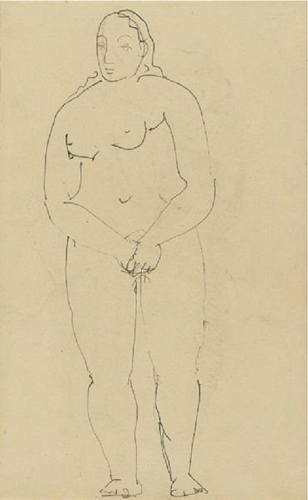 1906 Portrait de femme. Pablo Picasso (1881-1973) Period of creation: 1889-1907