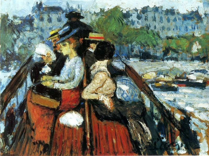 1901 Sur le pont supВrieur. Пабло Пикассо (1881-1973) Период: 1889-1907