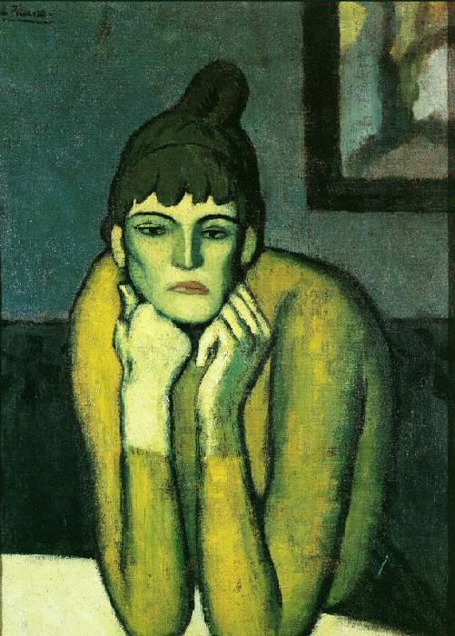 1901 La femme au chignon. Pablo Picasso (1881-1973) Period of creation: 1889-1907