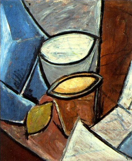 1907 Pots et citron. Pablo Picasso (1881-1973) Period of creation: 1889-1907