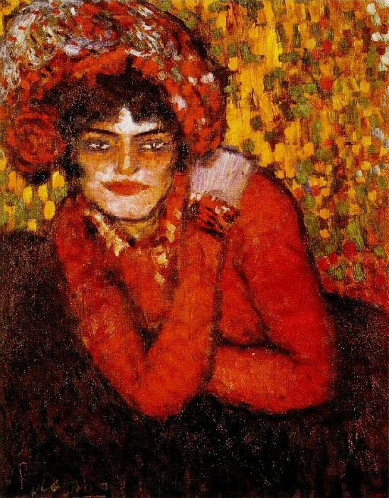 1901 Pierreuse, la main sur lВpaule2. Pablo Picasso (1881-1973) Period of creation: 1889-1907