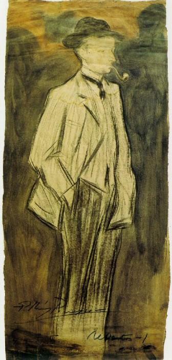 1899 Portrait de Ramвn Reventвs. Pablo Picasso (1881-1973) Period of creation: 1889-1907