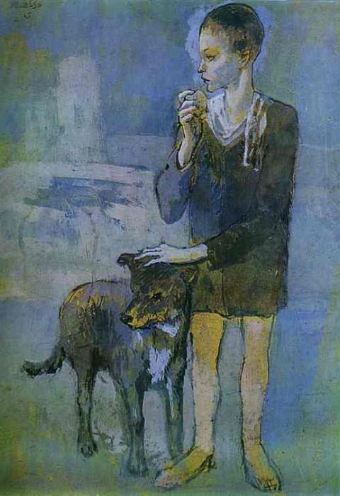 1905 GarЗon avec un chien. Pablo Picasso (1881-1973) Period of creation: 1889-1907