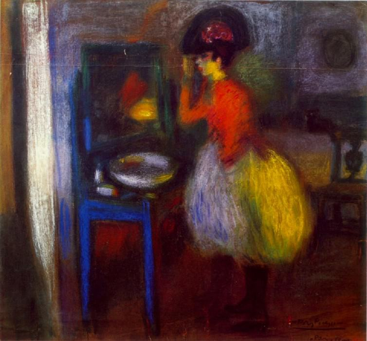 1900 Dans la piКce (La loge). Пабло Пикассо (1881-1973) Период: 1889-1907