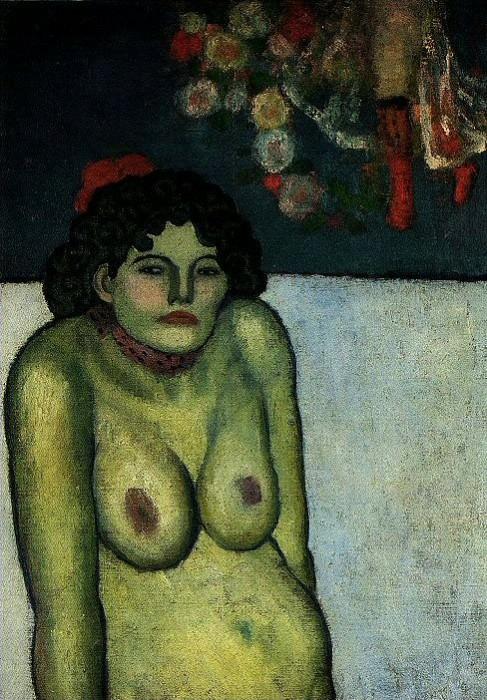 1901 Femme nue assise. Пабло Пикассо (1881-1973) Период: 1889-1907