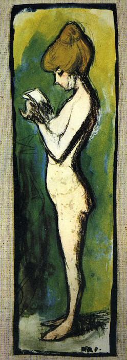1899 Femme debout. Пабло Пикассо (1881-1973) Период: 1889-1907