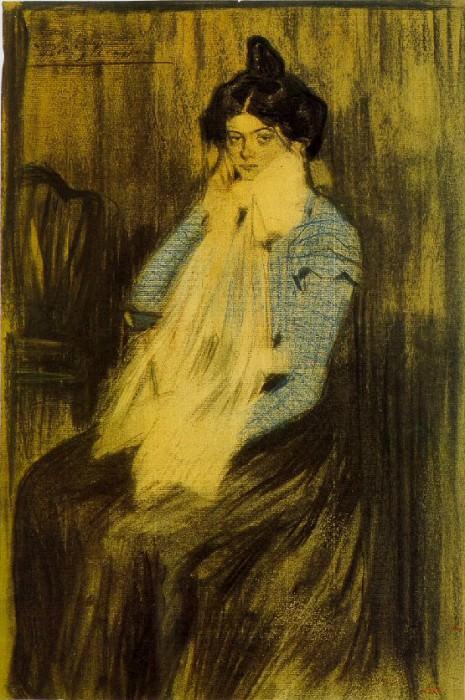 1899 Lola Picasso, sЬur de lartiste. Pablo Picasso (1881-1973) Period of creation: 1889-1907