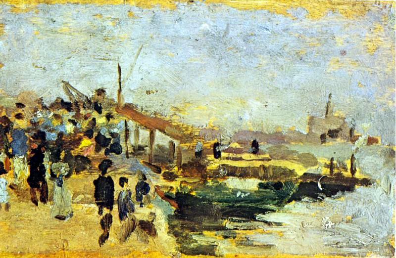 1895 Paysage de port. Pablo Picasso (1881-1973) Period of creation: 1889-1907