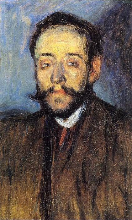 1901 Portrait de Minguell. Пабло Пикассо (1881-1973) Период: 1889-1907