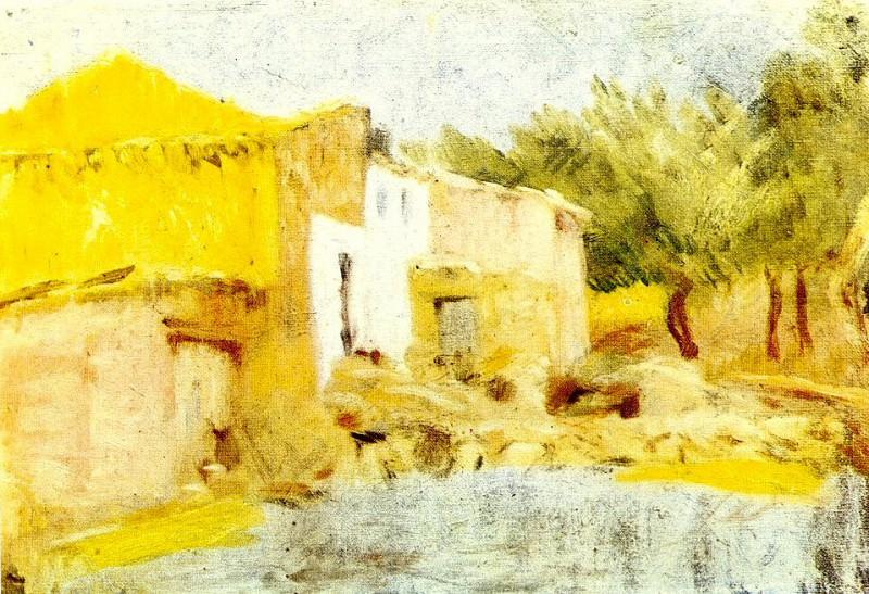 1898 Mas du Quiquet. Pablo Picasso (1881-1973) Period of creation: 1889-1907