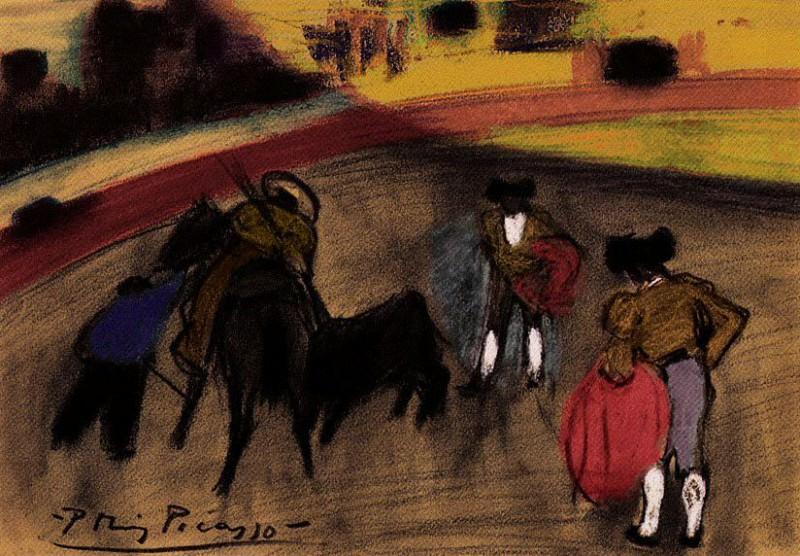 1900 Courses de taureaux (Corrida)3. Пабло Пикассо (1881-1973) Период: 1889-1907